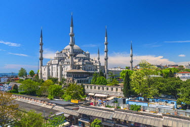 TK01606 Turkey, Istanbul, Sultanahmet, The Blue Mosque (Sultan Ahmed Mosque or Sultan Ahmet Camii)