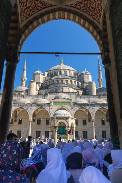 TK01612 Turkey, Istanbul, Sultanahmet, The Blue Mosque (Sultan Ahmed Mosque or Sultan Ahmet Camii)