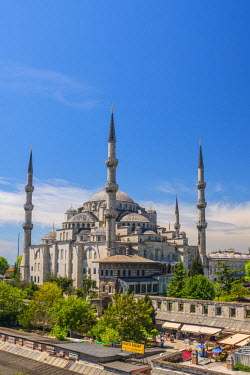 TK01607 Turkey, Istanbul, Sultanahmet, The Blue Mosque (Sultan Ahmed Mosque or Sultan Ahmet Camii)
