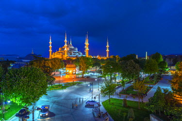TK01597 Turkey, Istanbul, Sultanahmet, The Blue Mosque (Sultan Ahmed Mosque or Sultan Ahmet Camii)