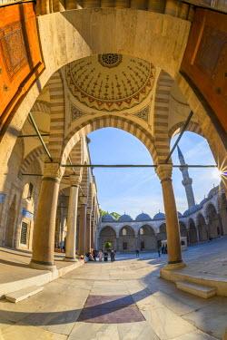 TK01639 Turkey, Istanbul, Suleymaniye Mosque (Suleymaniye Camii)