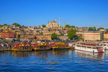TK01651 Turkey, Istanbul, Sultanahmet, The Golden Horn, Suleymaniye Mosque