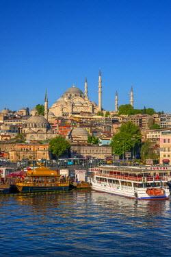 TK01652 Turkey, Istanbul, Sultanahmet, The Golden Horn, Suleymaniye Mosque