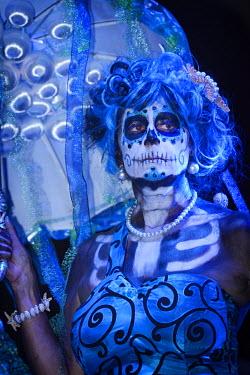 MEX1428AW Catrina, day of the Dead festivities, La Paz, Baja California Sur, Mexico