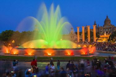 SPA5485AW Night light show at Magic Fountain or Font Magica, Barcelona, Catalonia, Spain
