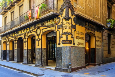 SPA5498AW El Indio emporium shop located in Raval district, one of the oldest stores of Barcelona, Catalonia, Spain