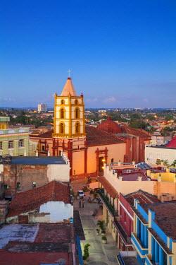 CB02025 Cuba, Camaguey, Camaguey Province, City view looking towards Iglesia De Nuestra Se�ora De La Soledad