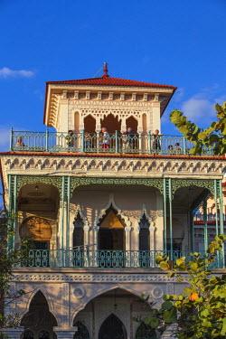 CB02077 Cuba, Cienfuegos, Punta Gorda, Palacio de Valle�- now a restaurant , museum and bar