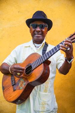 CB02121 Cuba, Santiago de Cuba Province, Santiago de Cuba, Historical Center, Musician