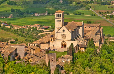 HMS0894302 Italy, Umbria, Assisi, Basilica of St Francis 12th century, listed as World Heritage by UNESCO
