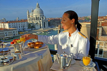HMS0371922 Italy, Veneto, Venice, listed as World Heritage by UNESCO, Bauer hotel, 5 star Hotel on grand canal