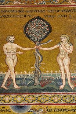 HMS0495445 Italy, Sicily, Monreale, the basilica, Adam, Eve and the snake