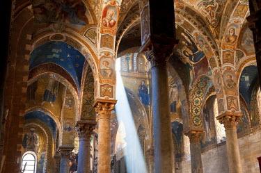 HMS0393623 Italy, Sicily, Palermo, Piazza Bellini, the Martorana church or Santa Maria dell Ammiraglio, 1149, has the oldest Byzantine mosaics in Sicily