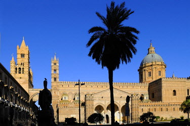 HMS0495366 Italy, Sicily, Palermo, cathedral of Our Lady of the Assumption