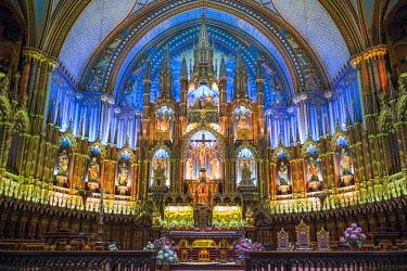 CA04135 Canada, Quebec, Montreal, Basilica of Notre Dame