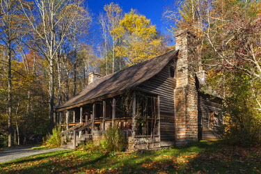 US19066 USA, North Carolina, Pisgah Forest, Cradle of Forestry National Historic Site, site of the first forestry conservation school in the US, founded by Dr. Carl Schenck in 1898 as the Biltmore Forest Scho...