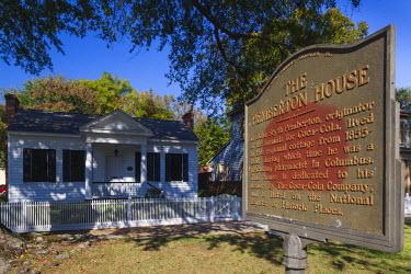 US38085 USA, Georgia, Columbus, The Pemberton House, former home of Dr. John Styth Pemberton, inventor of the formula for Coca Cola