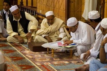 AF55CCE0426 Tripoli, Libya. Preparing Muslim Wedding Contract.