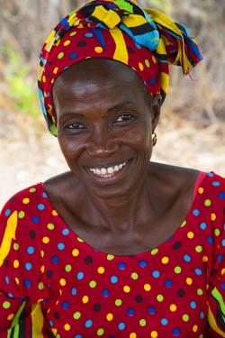 AF38CCE0590 Senegalese Woman, near Sokone, Senegal.