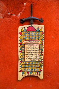 AF38CCE0292 Nigerian Islamic Prayer Board, 'Ardoise', Collection of Marie Jose Crespin, Goree Island, Senegal.