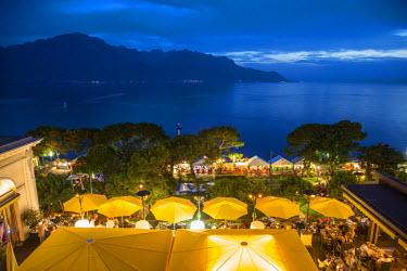 CH03821 Grand Hotel Suisse, Montreux, Lake Geneva, Vaud, Switzerland