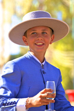 ES03174 Spanish Boy In Traditional Costume, Annual Horse Fair, Jerez de la Frontera, Cadiz Province, Andalusia, Spain