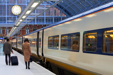 HMS0213934 United Kingdom, London, St Pancras International train station, arrival of a Eurostar