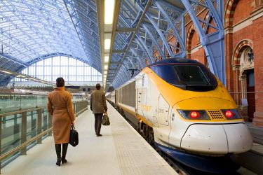 HMS0213942 United Kingdom, London, St Pancras International train station, Eurostar trains