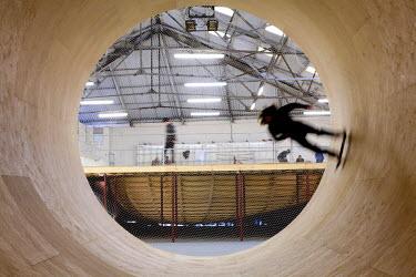 HMS0215211 United Kingdom, Liverpool, Greenland Street, A Foundation Art Center, skateboarder