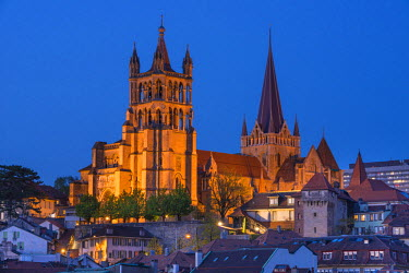 HMS1697691 Switzerland, Canton of Vaud, Lausanne, city center, Notre Dame Cathedral