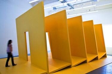 HMS0319974 Switzerland, Zurich, Haus Konstruktiv Museum, exhibition on Gianni Colombo, main Italian creator of the kinetic light art, work of art entitled Bariestesia