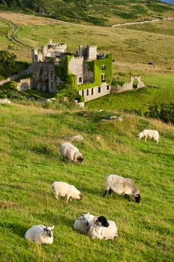 HMS0297718 Republic of Ireland, Galway County, Connemara, castle at Clifden
