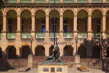 AS01208 Australia, New South Wales, NSW, Sydney, Sydney Hospital, statue of the boar Il Porcellino