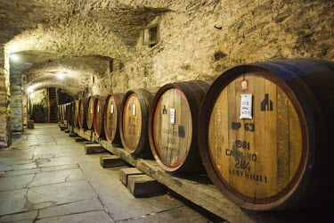 AS02162 Australia, South Australia, Clare Valley, Sevenhill, Sevenhill Cellars, last remaining Jesuit-owned winery in Australia, founded in 1851, wine cellar