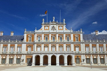 HMS0391441 Spain, Madrid region, Aranjuez, Royal Palace of Aranjuez, home of the King of Spain, listed as World Heritage by UNESCO (aerial view)