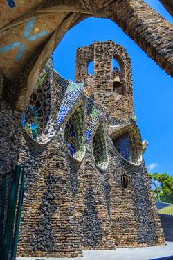 SPA5606AW Church of Colonia Guell, Coloma de Cervello, Catalonia, Spain