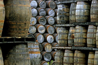 HMS0358122 United Kingdom, Scotland, Moray, town of Dufftown, Glenfiddich distillery (single malt whisky), cooperage still integrated to the distillery