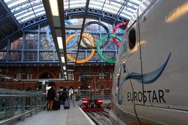 HMS0795116 United Kingdom, London, Station of Saint-Pancras International, Eurostar arrival