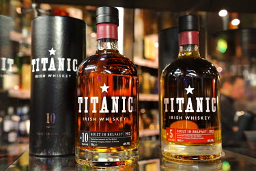 HMS0810154 United Kingdom, Northern Ireland, Belfast, the Titanic Whiskey launched in 2011