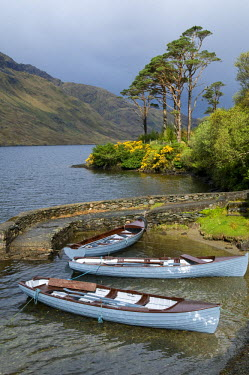 HMS0824148 Republic of Ireland, Connacht Province, County Mayo, Doo Lough Lake from little road of Doolough Pass, near Delfi