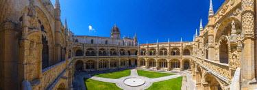 PT01290 Portugal, Lisbon, Belem, Mosteiro dos Jeronimos (Jeronimos Monastery or Hieronymites Monastery), UNESCO World Heritage Site, Cloisters