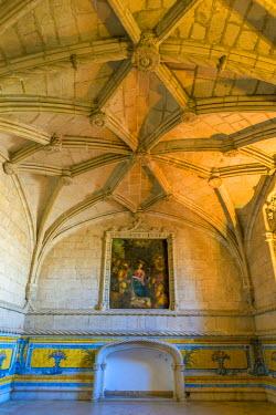 PT01292 Portugal, Lisbon, Belem, Mosteiro dos Jeronimos (Jeronimos Monastery or Hieronymites Monastery), UNESCO World Heritage Site, Ancient Refectory (Antigo Refeitorio)