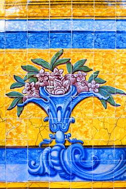 PT01293 Portugal, Lisbon, Belem, Mosteiro dos Jeronimos (Jeronimos Monastery or Hieronymites Monastery), UNESCO World Heritage Site, Tiles (Azulejos) in the Ancient Refectory (Antigo Refeitorio)