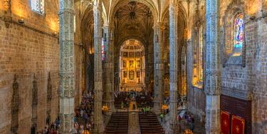 PT01294 Portugal, Lisbon, Belem, Mosteiro dos Jeronimos (Jeronimos Monastery or Hieronymites Monastery), UNESCO World Heritage Site, Church of Santa Maria, Church of the Jeronimos Monastery