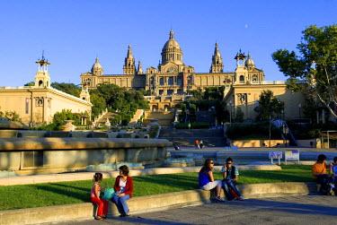 HMS0191156 Spain, Catalonia, Barcelona, Montjuic, Catalonia National Museum of Art (MNAC), National Palace (Palau Nacional)