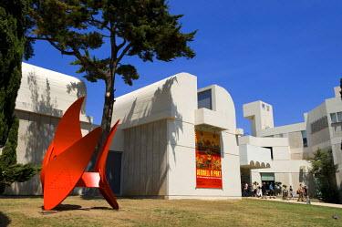 HMS0223157 Spain, Catalonia, Barcelona, Montjuic, Placa de Neptu, Joan Miro Foundation by architect Josep Lluis Sert