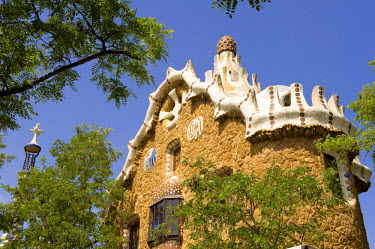 HMS0223190 Spain, Catalonia, Barcelona, Gracia District, Guell Park by Antoni Gaudi, listed as World Heritage by UNESCO