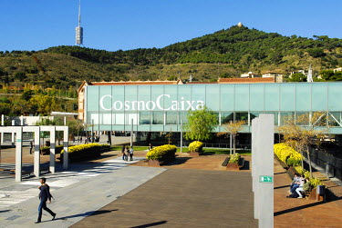 Spain, Catalonia, Barcelona, CosmoCaixa, the Science Museum of La Caixa Foundation by architects Esteve and Robert Terradas includes an old Modernist building (1904) by architect Josep Domenech i Esta...
