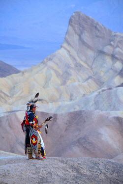 USA9364AW Jim Jellowhawk at Zabriskie Point, Death Valley National Park, California, USA MR