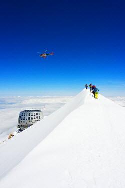 FRA8321 Europe, France, Haute Savoie, Rhone Alps, Chamonix Valley, Mont Blanc Gouter refuge